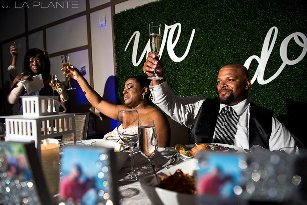 JW Marriott Cherry Creek Wedding | Wedding toasts | Denver wedding photographer | J La Plante Photo