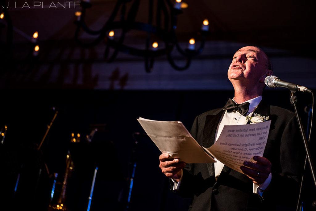 Park Hyatt Wedding | Father of the bride toast | Beaver Creek wedding photographer | J La Plante Photo