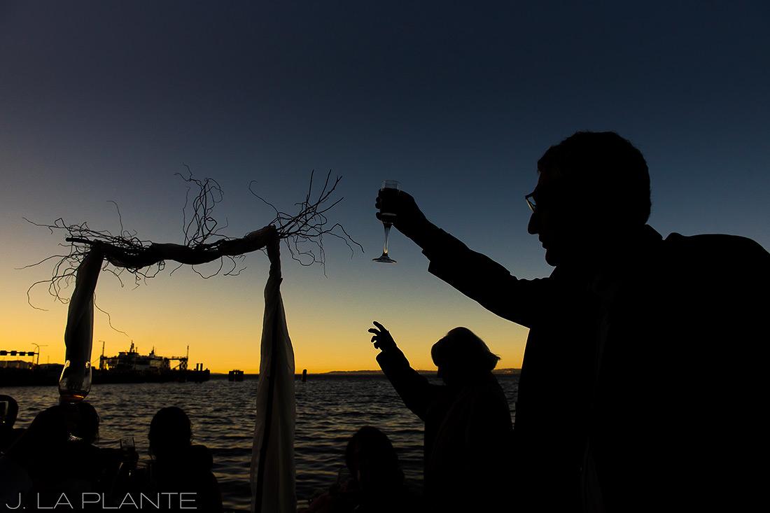 Vashon Island Wedding | Wedding toasts | Seattle destination wedding photographer | J La Plante Photo