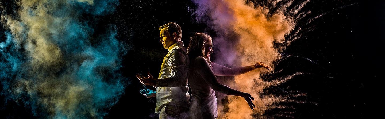 Holi powder engagement photos   Unique engagement photographer   J La Plante Photo