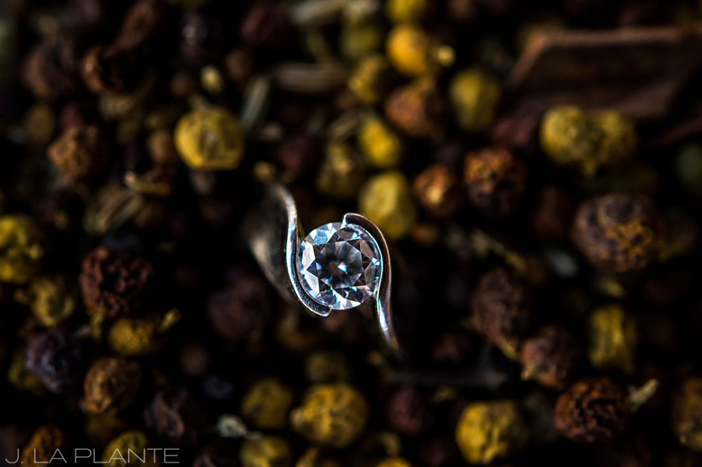 Rocky Mountain National Park Elopement | Engagement ring | Colorado Elopement Photographer | J La Plante Photo