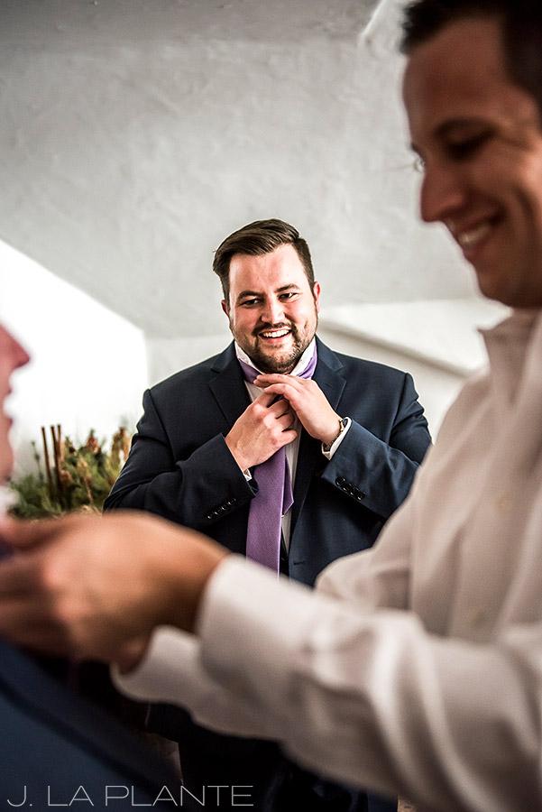 Fall Vail Wedding | Groomsmen getting ready | Vail Wedding Photographer | J La Plante Photo