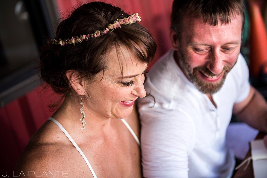 Rocky Mountain National Park Elopement | Bride and groom laughing | Colorado Elopement Photographer | J La Plante Photo