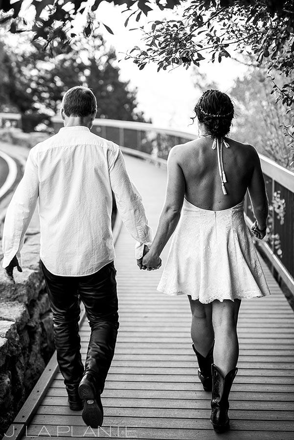 Rocky Mountain National Park Elopement | Bride and groom walking hand in hand | Colorado Elopement Photographer | J La Plante Photo