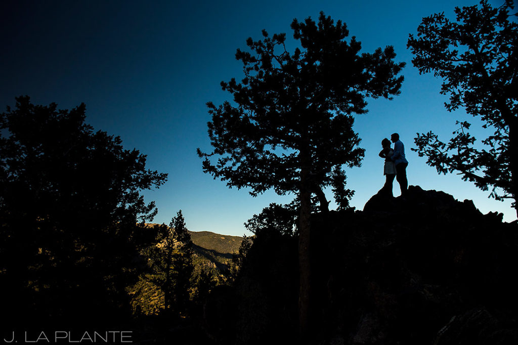 Rocky Mountain National Park Elopement | Silhouette portrait | Colorado Elopement Photographer | J La Plante Photo