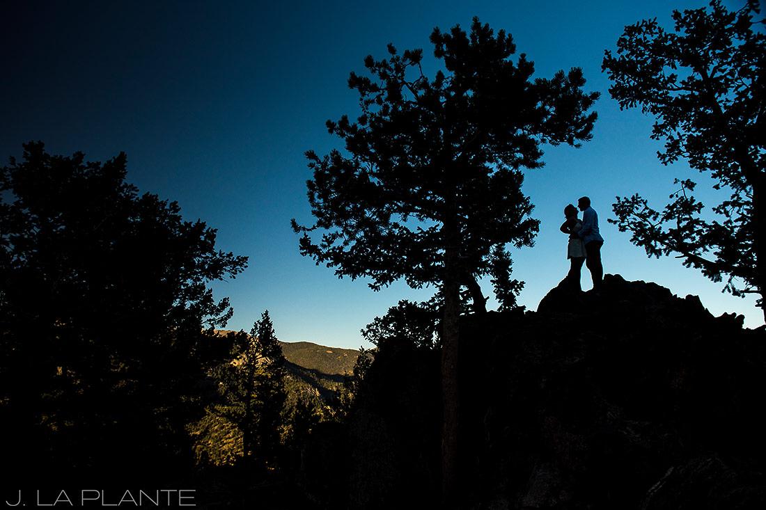 Rocky Mountain National Park Elopement | Silhouette portrait | Colorado Elopement Photographer | J La Plante Photo