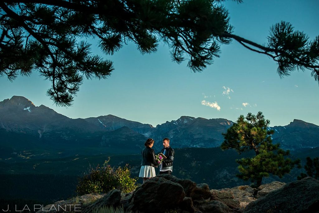Rocky Mountain National Park Elopement | Elopement ceremony | Colorado Elopement Photographer | J La Plante Photo
