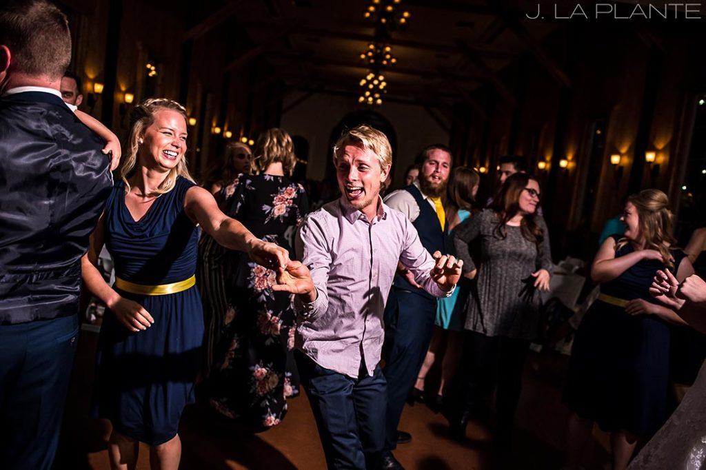 kids dancing during wedding reception
