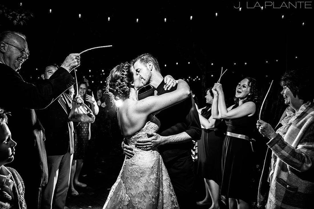 Crooked Willow Farms Wedding | Lightstick sendoff | Colorado Wedding Photographer | J La Plante Photo