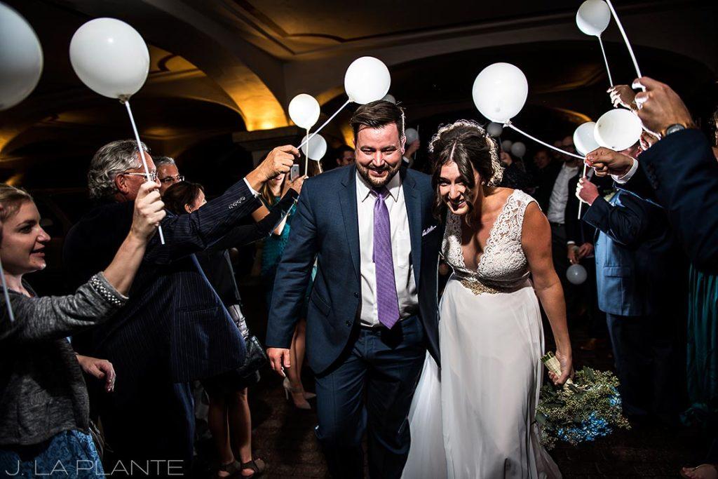 Fall Vail Wedding | Balloon sendoff | Vail Wedding Photographer | J La Plante Photo