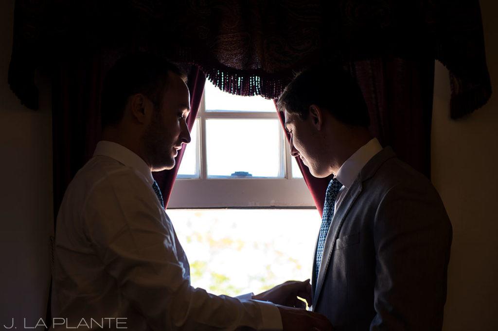 Willow Ridge Manor Wedding | Groom with best man | Denver wedding photographer | J La Plante Photo