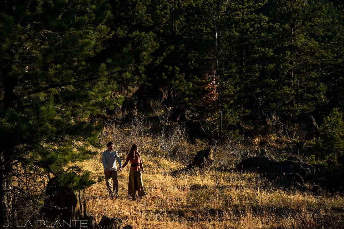 Colorado Mountain Engagement   Estes Park wedding photography   J La Plante Photo