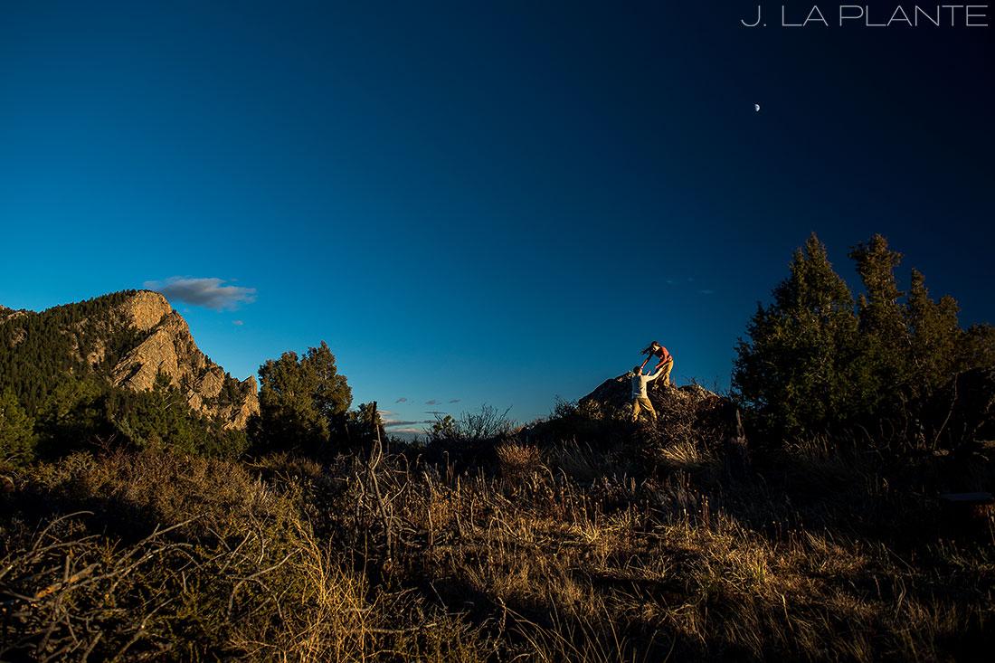 Colorado Mountain Engagement   Hiking engagement   Estes Park engagement photography   J La Plante Photo