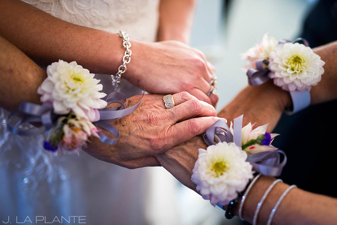 Willow Ridge Manor Wedding | Bride with mother and grandmother | Denver wedding photographer | J La Plante Photo