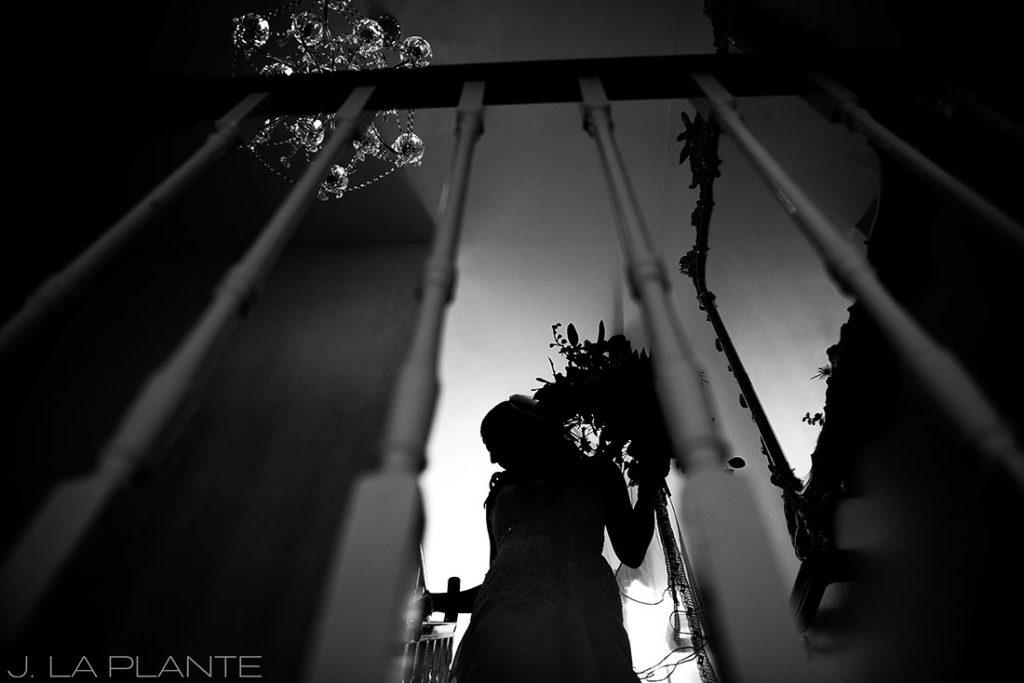 Willow Ridge Manor Wedding | Bride silhouette | Denver wedding photographer | J La Plante Photo