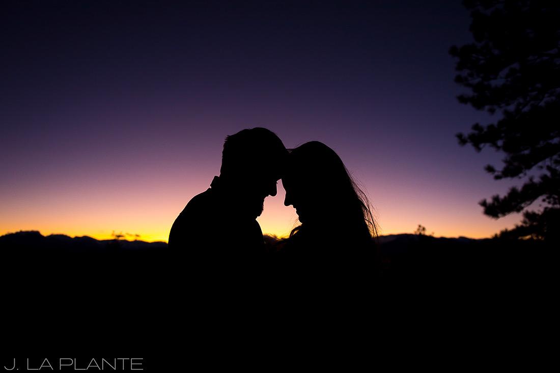 Colorado Mountain Engagement   Sunset engagement photo   Estes Park wedding photography   J La Plante Photo
