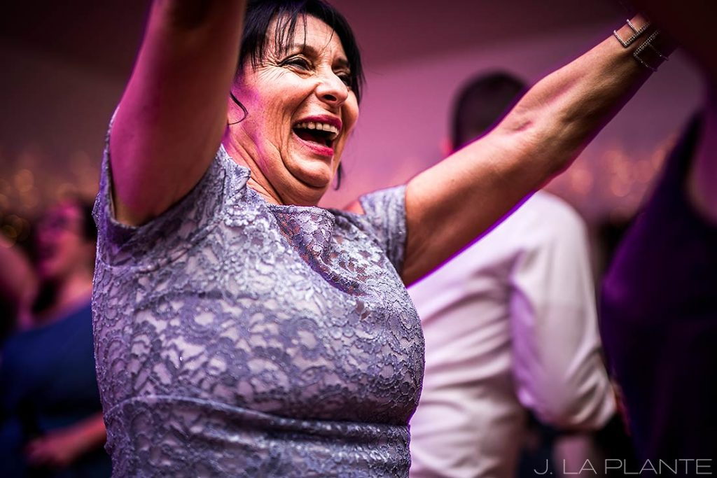 mother of the bride dancing during wedding reception