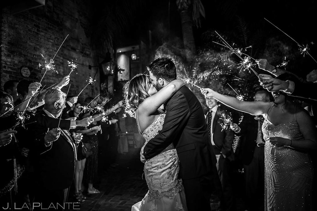 Sparkler Send Off | Race and Religious Wedding | New Orleans Destination Wedding Photographers | J. La Plante Photo