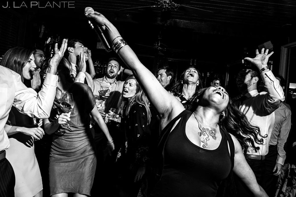 Live Wedding Band Dance Party | Greenbriar Inn Wedding | Boulder Wedding Photographers | J. La Plante Photo