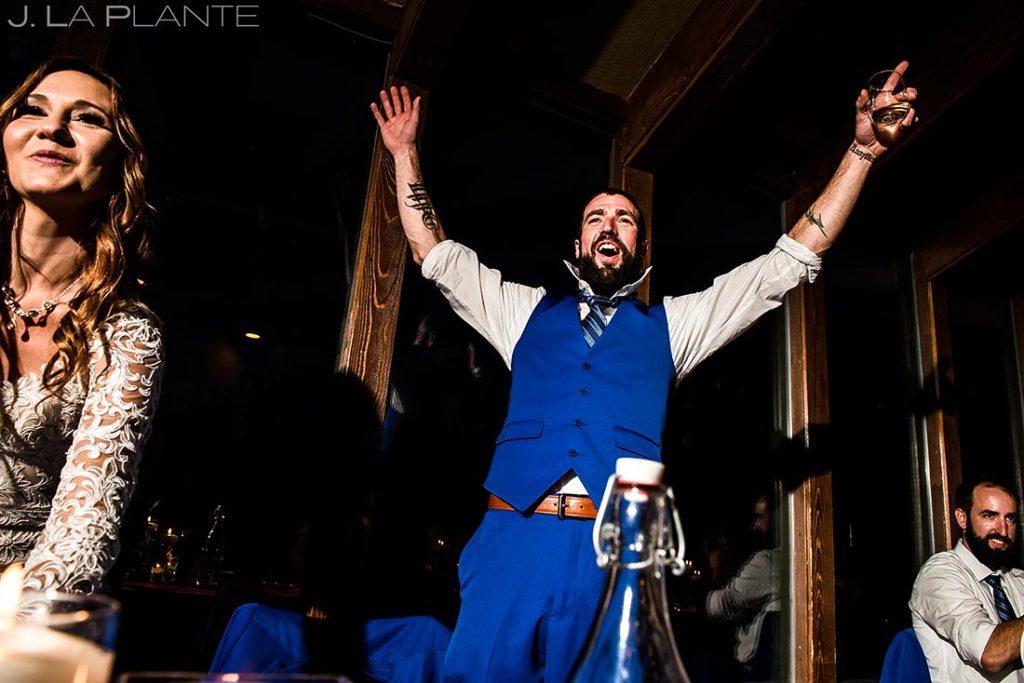 Groom Giving Speech | Purgatory Resort Wedding | Colorado Wedding Photographers | J. La Plante Photo