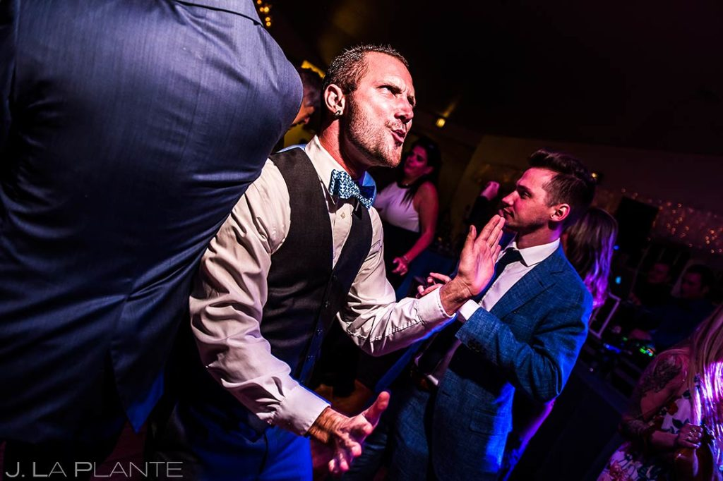 Officiant Dancing at Reception | Willow Ridge Manor Wedding | Denver Wedding Photographer | J. La Plante Photo