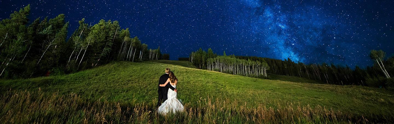 Bride and Groom Under the Stars | Beaver Creek Wedding | Colorado Wedding Photographer | J. La Plante Photo