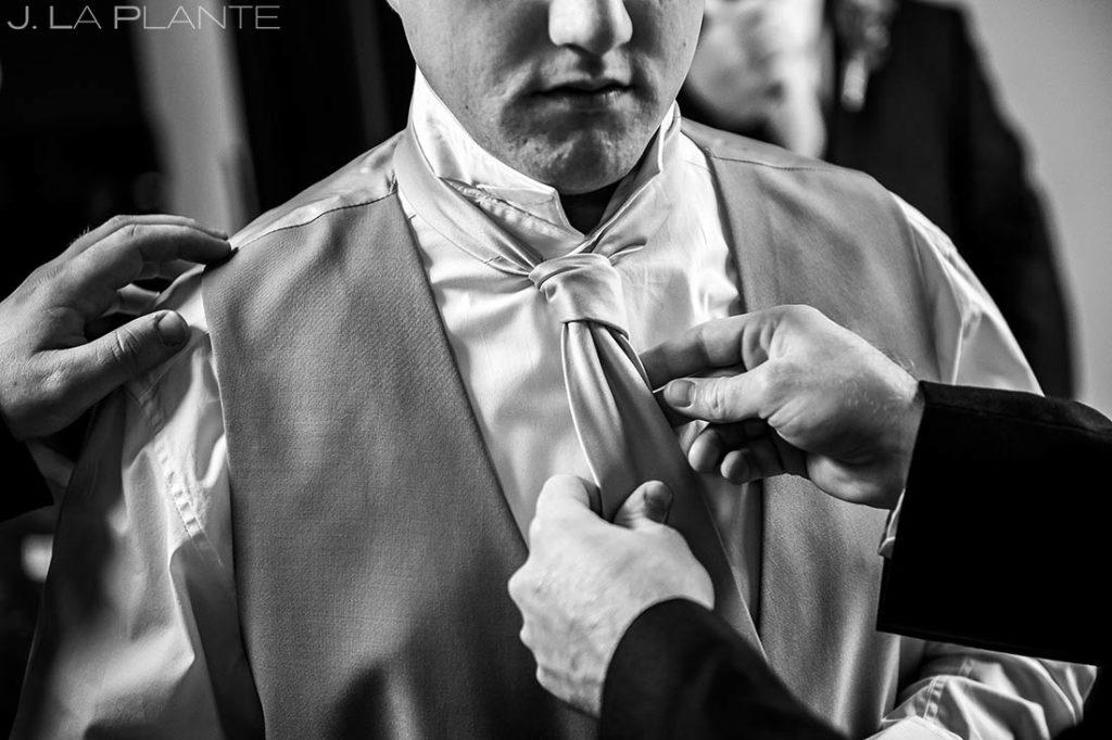 Groom Getting Ready | Corona Church Denver Wedding | Denver Wedding Photographers | J. La Plante Photo