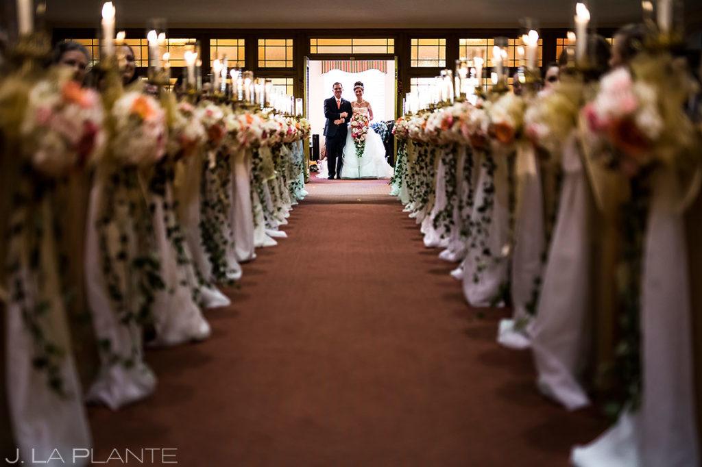 Father Walking Bride Down Aisle | Corona Church Denver Wedding | Denver Wedding Photographers | J. La Plante Photo