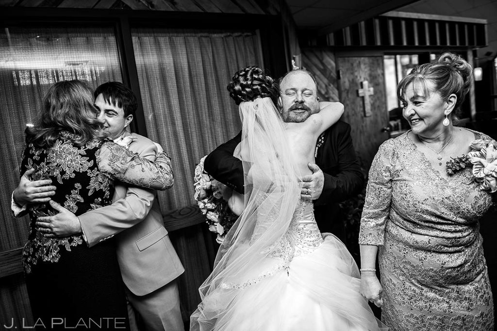Church Wedding Receiving Line | Corona Church Denver Wedding | Denver Wedding Photographer | J. La Plante Photo