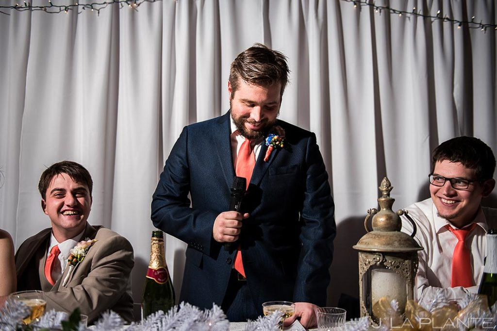 Best Man Speech | Corona Church Denver Wedding | Denver Wedding Photographer | J. La Plante Photo
