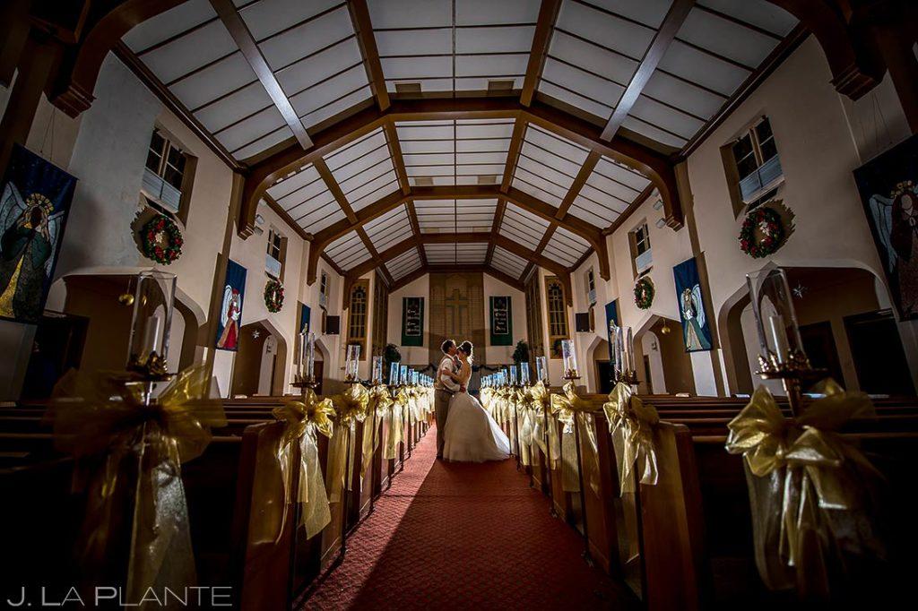 church wedding portrait in december