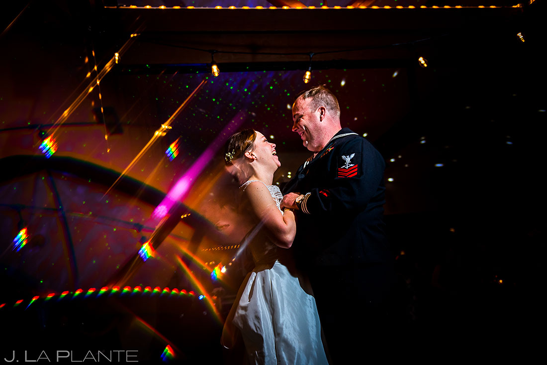 First dance | Mary's Lake Lodge Wedding | Estes Park Winter Wedding Photographer | J La Plante Photo