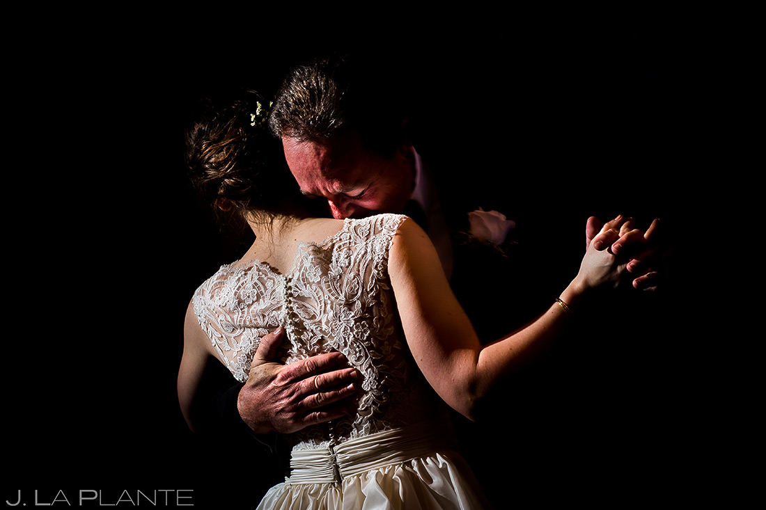 Father of the Bride dance | Mary's Lake Lodge Wedding | Estes Park Winter Wedding Photographer | J La Plante Photo