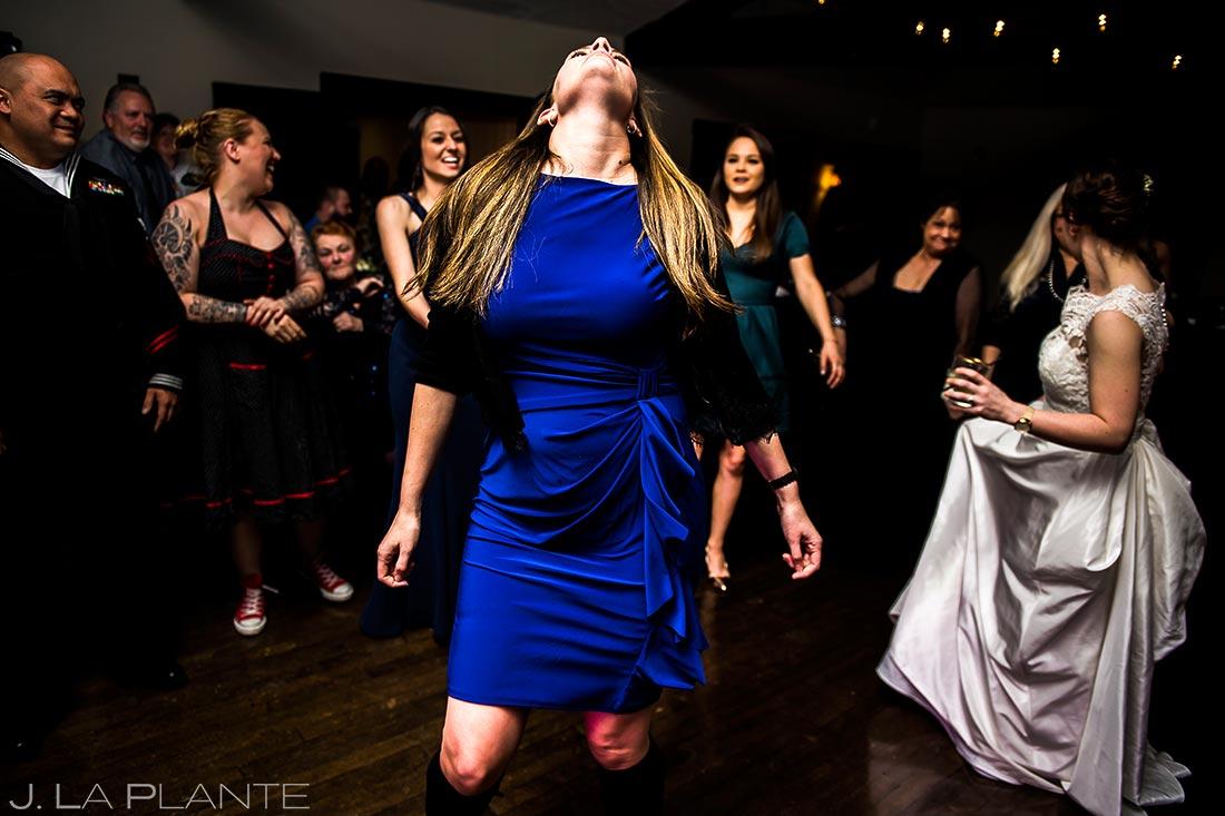 Guest dancing | Mary's Lake Lodge Wedding | Estes Park Wedding Photographer | J La Plante Photo