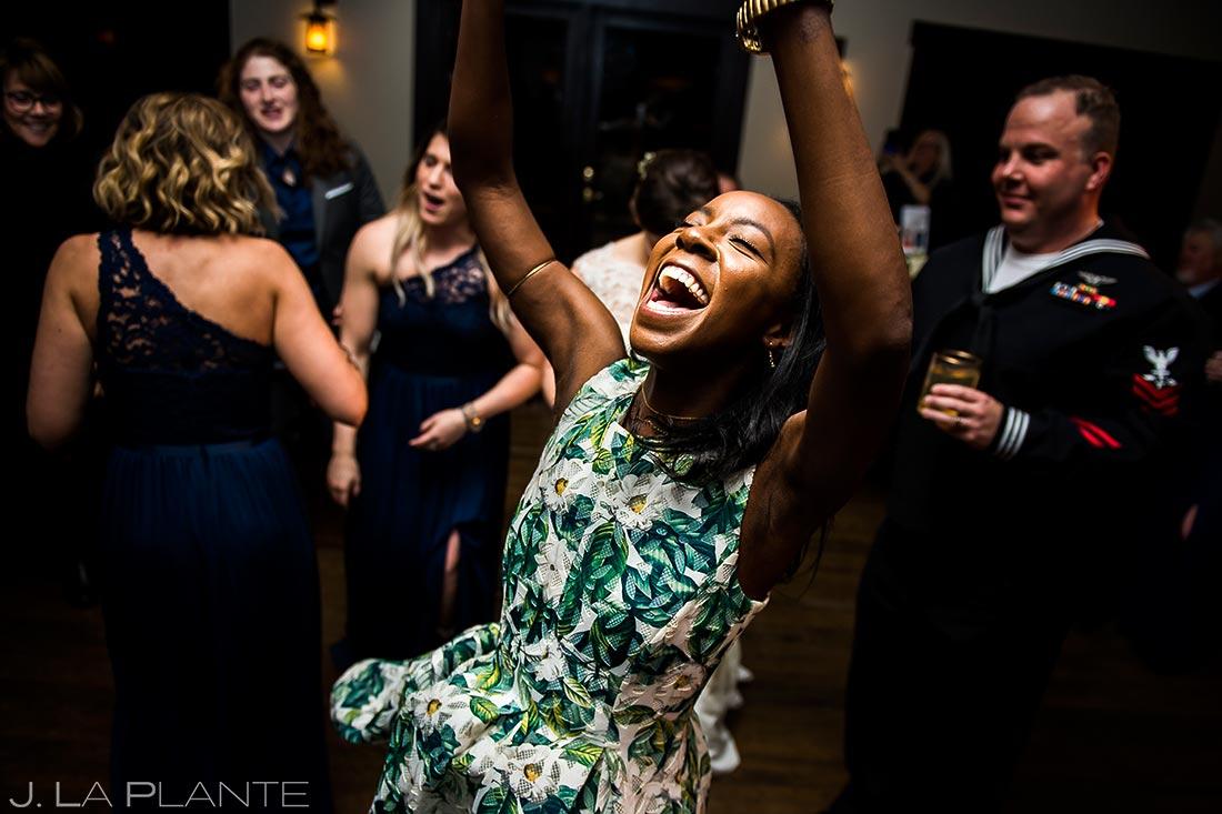 Guest dancing | Estes Park Wedding | Estes Park Wedding Photographer | J La Plante Photo