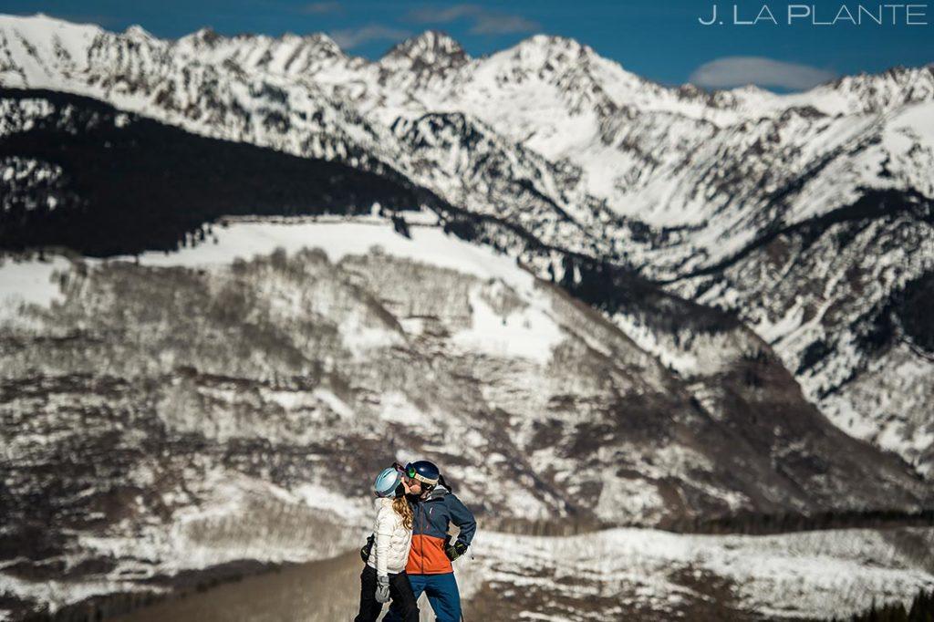 Vail Ski Engagement   Vail wedding photographer   J. La Plante Photo