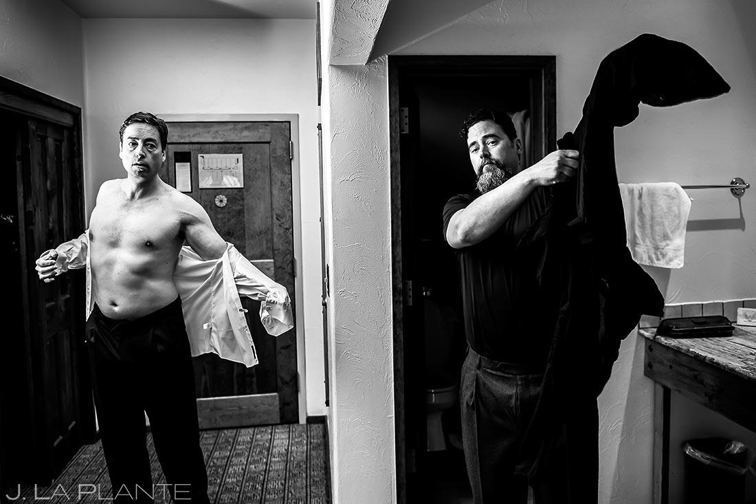 Groom getting ready | Evergreen Lake House Wedding | Evergreen Wedding Photographer | J. La Plante Photo