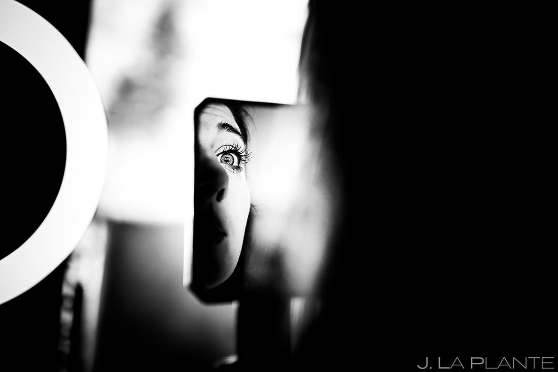 Bride getting ready | Evergreen Lake House Wedding | Evergreen Wedding Photographer | J. La Plante Photo