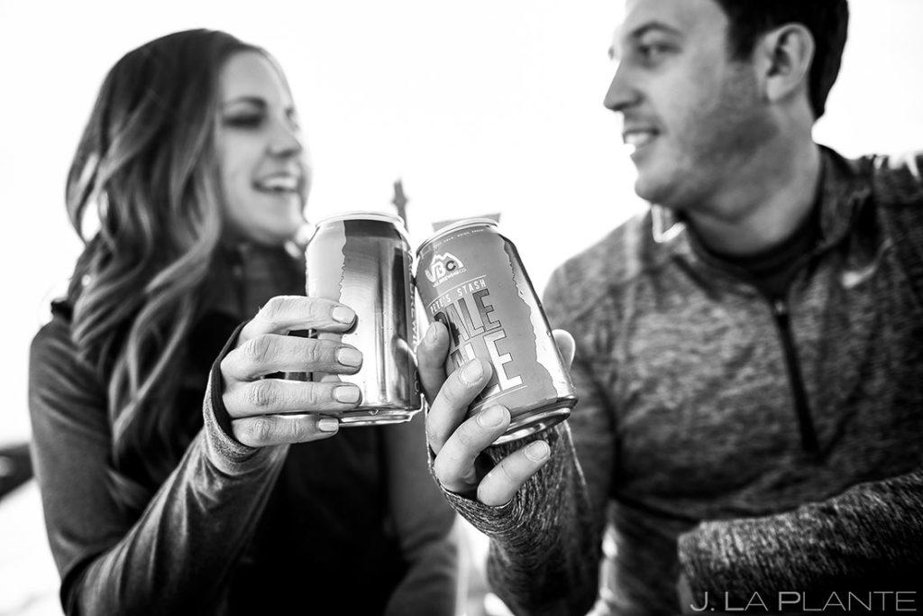 Vail Ski Engagement   Apres ski drinks   Vail wedding photographer   J. La Plante Photo