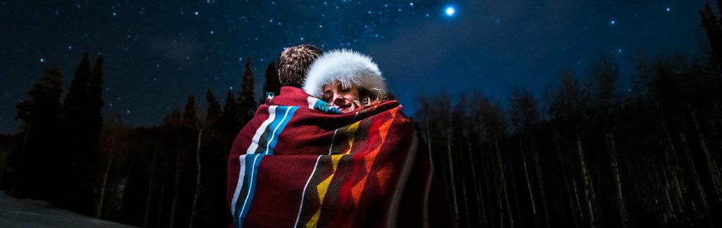 Beaver Creek engagement session under the stars | Beaver Creek engagement photographer | J La Plante Photo
