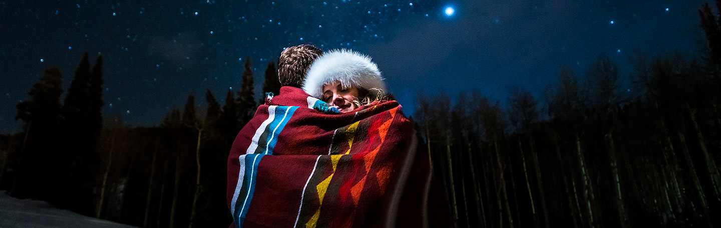 Beaver Creek engagement session under the stars | Beaver Creek engagement photographer | J La Plante Photo