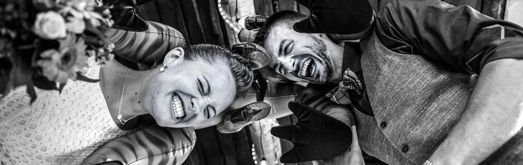 Bride and Groom Goofing Around | Shadow Mountain Ranch Wedding | Colorado Wedding Photographer | J. La Plante Photo