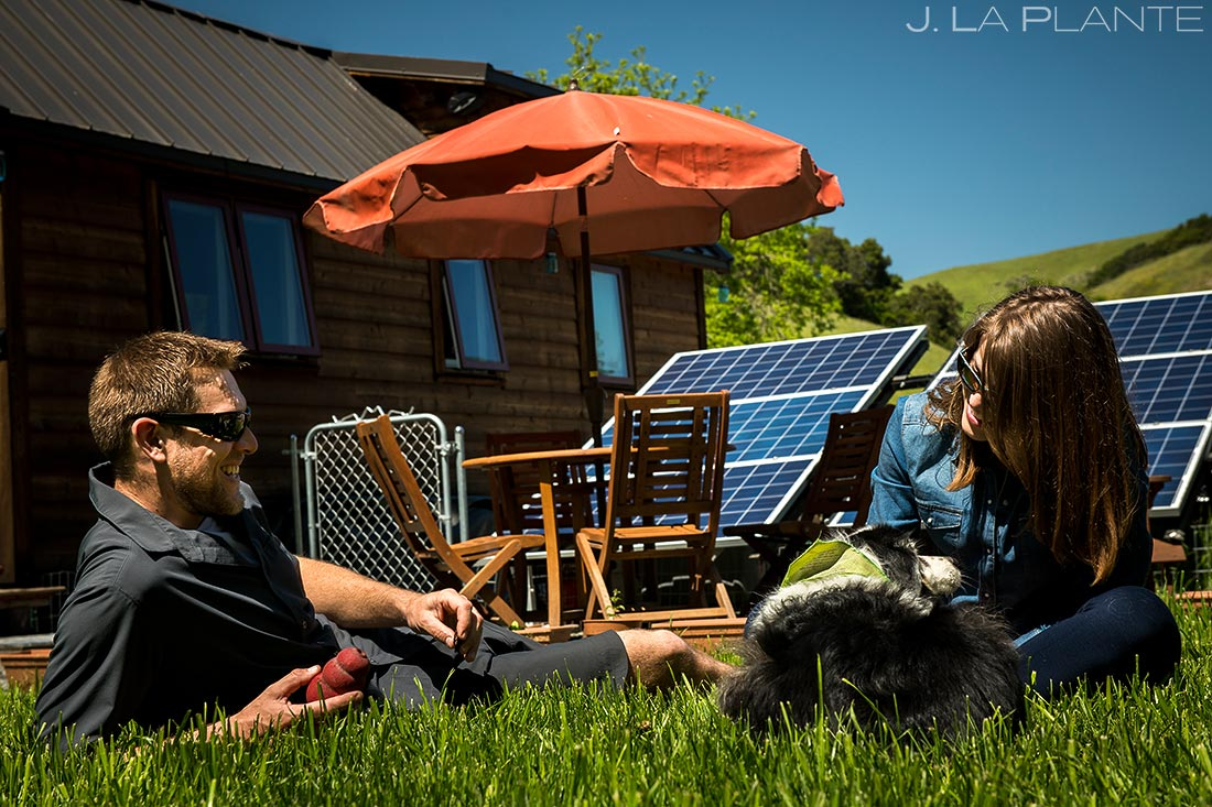 bay area tiny house lifestyle session with dog