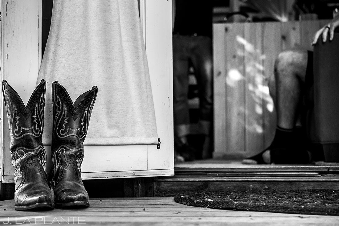 photo of cool cowboy boots