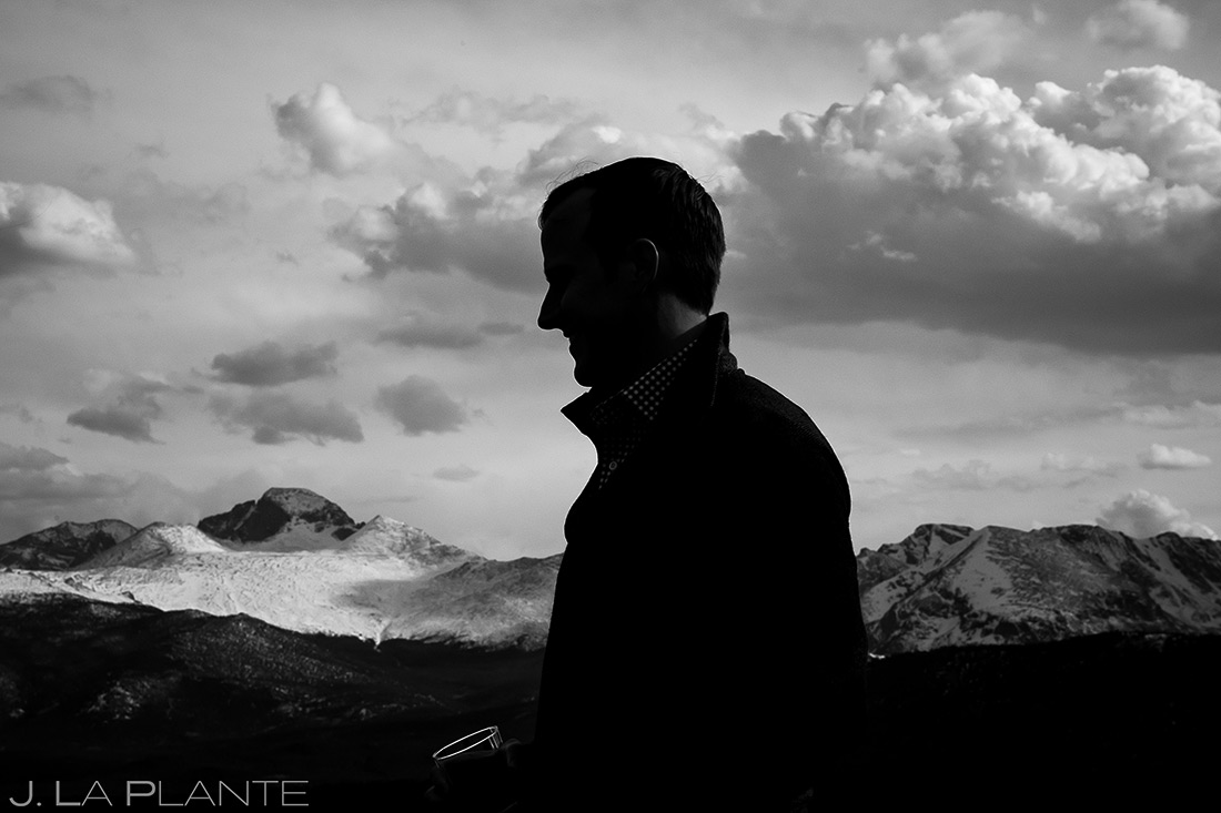 Silhouette of the Groom | Estes Park Wedding Photographer | J. La Plante Photo