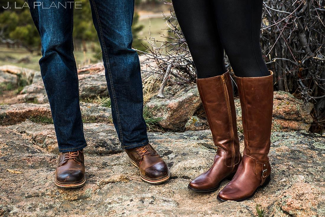 Bride and Groom at Rocky Mountain National Park | Rocky Mountain National Park Engagement | Estes Park Wedding Photographer | J. La Plante Photo