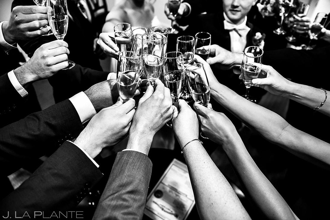 Wedding Party Champagne Toast   Wedgewood Boulder Creek Wedding   Boulder Wedding Photographer   J. La Plante Photo