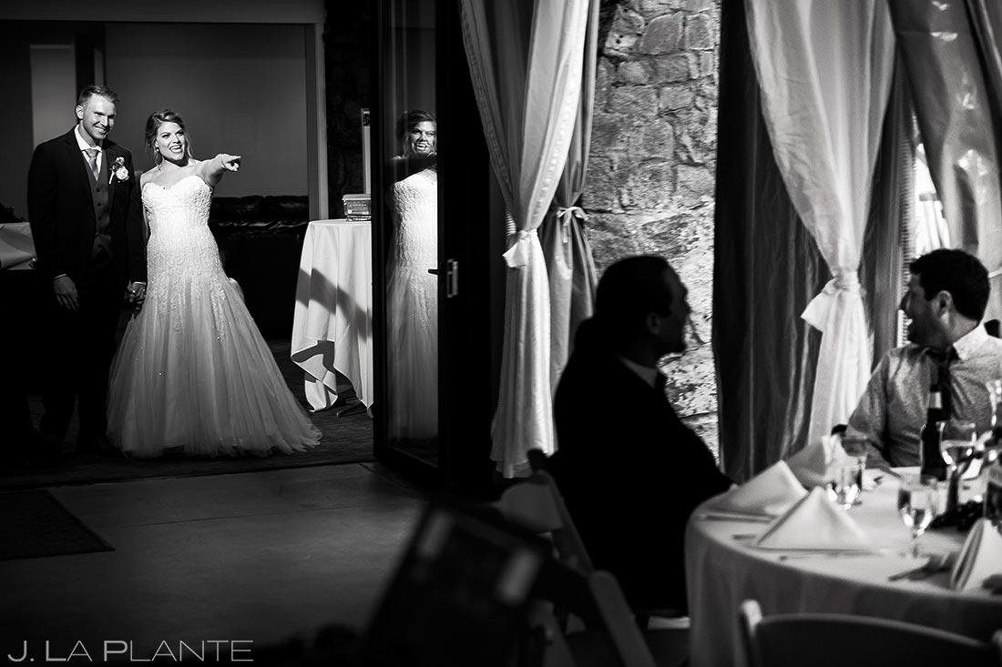 Bride and Groom Entrance   Wedgewood Boulder Creek Wedding   Boulder Wedding Photographer   J. La Plante Photo