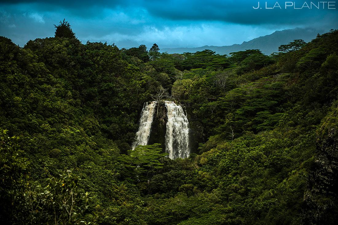 cool waterfall in hawaii