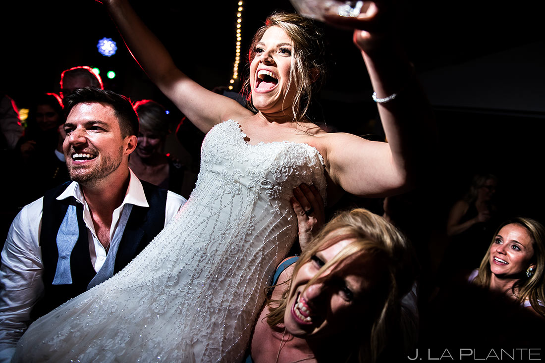 Wedding Reception Dance Party   Wedgewood Boulder Creek Wedding   Boulder Wedding Photographer   J. La Plante Photo